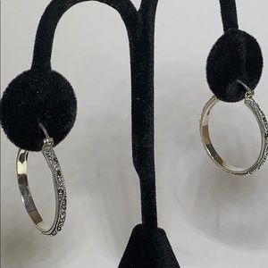 Marcasite Hoop Earrings